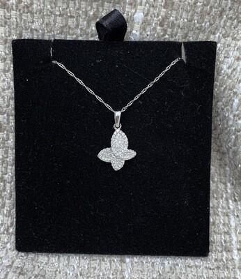 "Free Form ""butterfly"" Diamond Pendant"