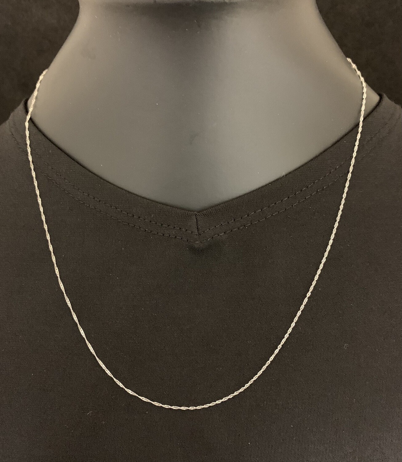 "18"" 14Kt White Gold Whisper Chain"