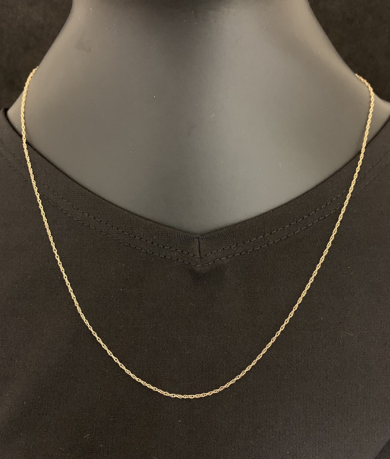 """18"""" 14Kt Yellow Gold Fine Link Chain"""