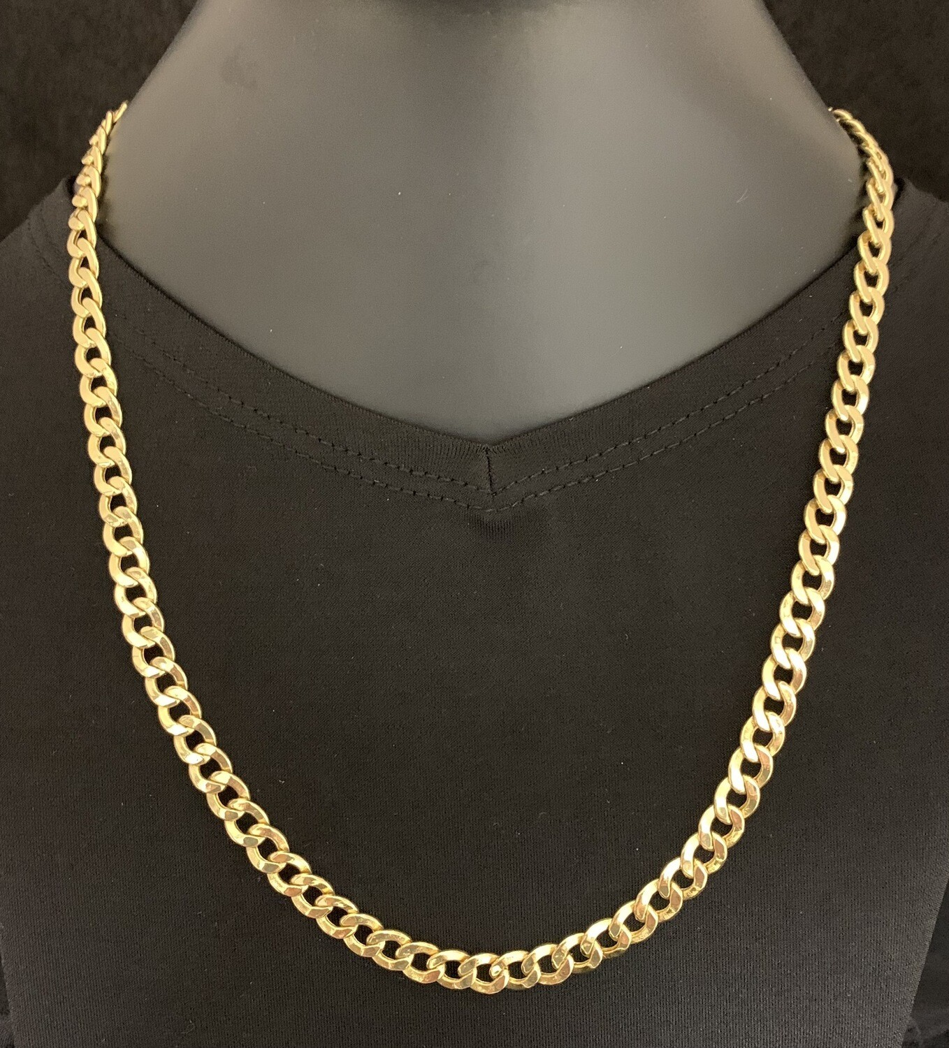 "20"" Cuban Link 14Kt Yellow Gold Chain"