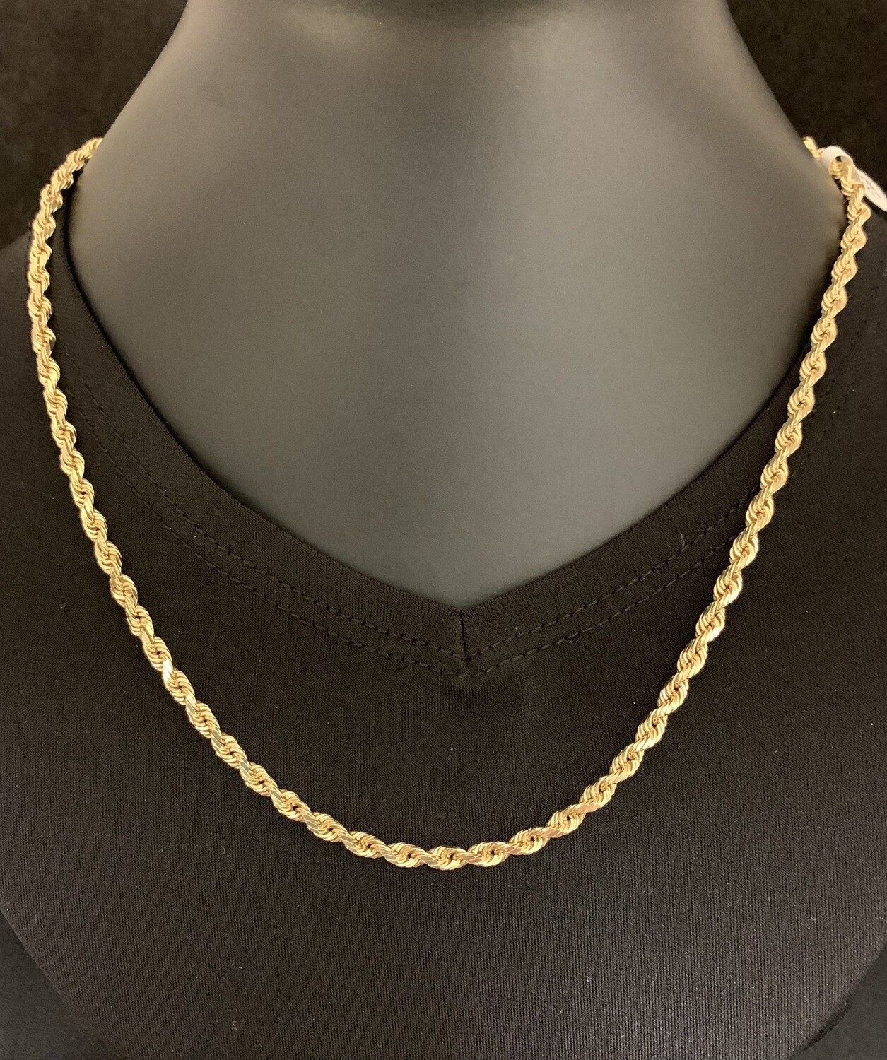 "18"" 10Kt Yellow Gold Dc Rope Chain"