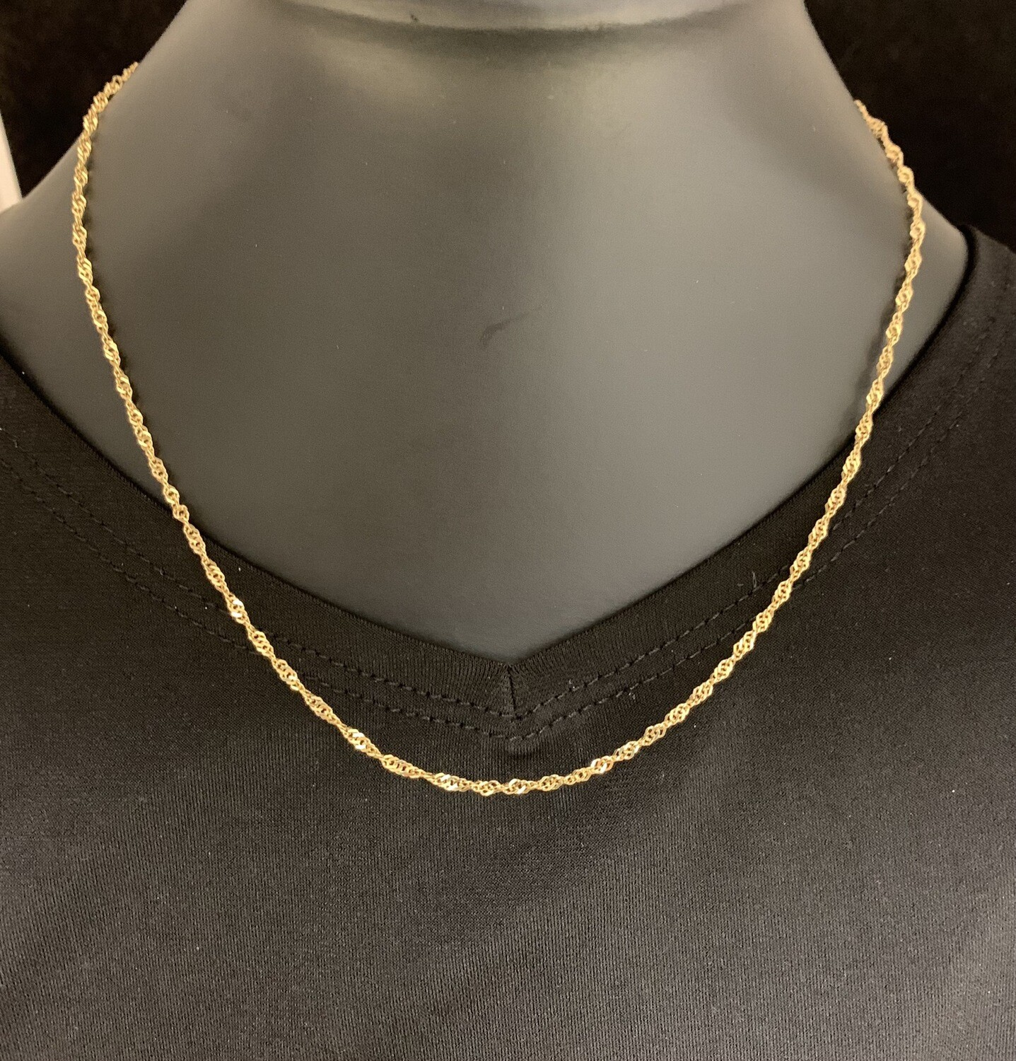 "15"" 10Kt Yellow Gold Singapore Chain"