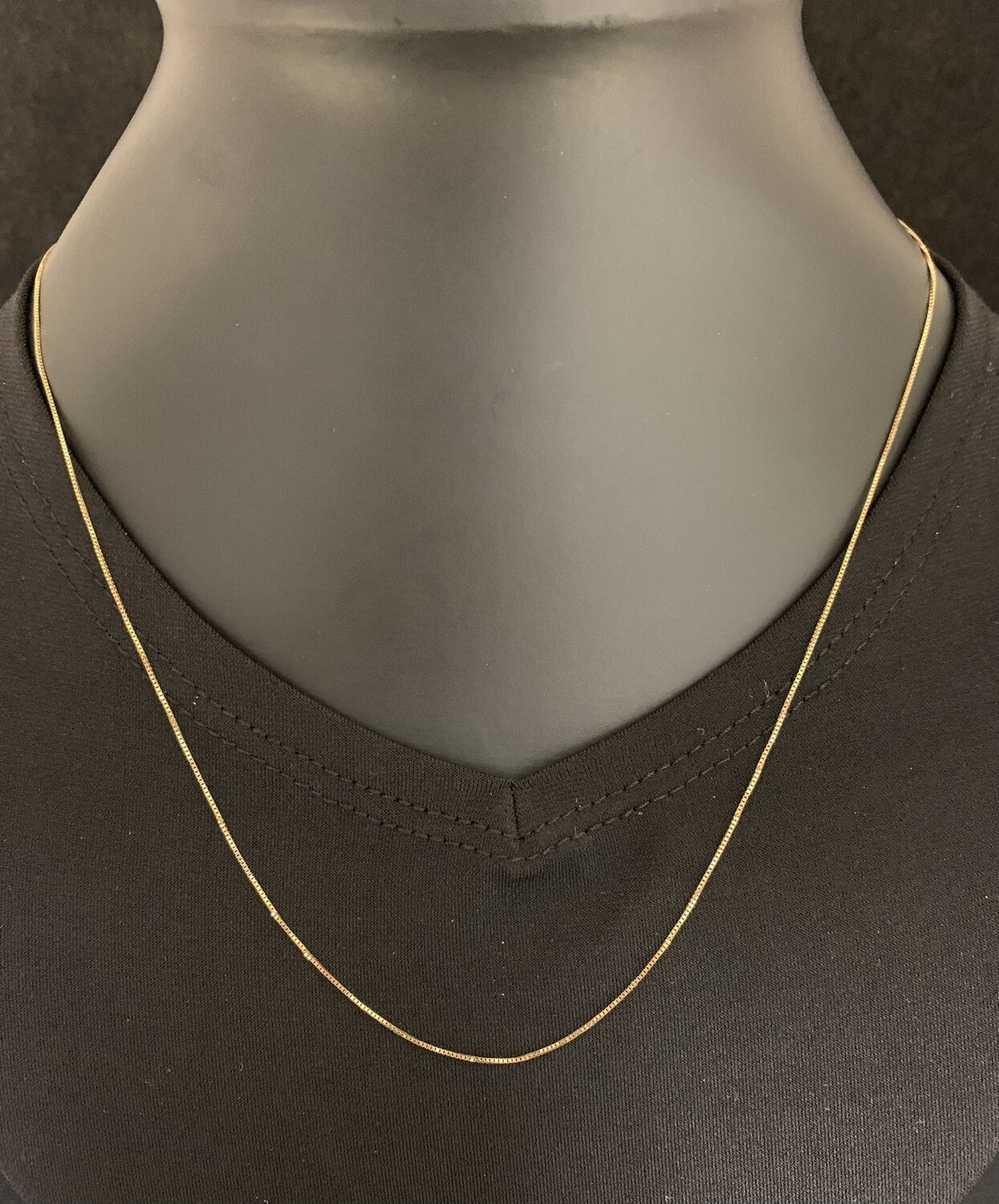 "18"" 10Kt Yellow Gold Box Chain"