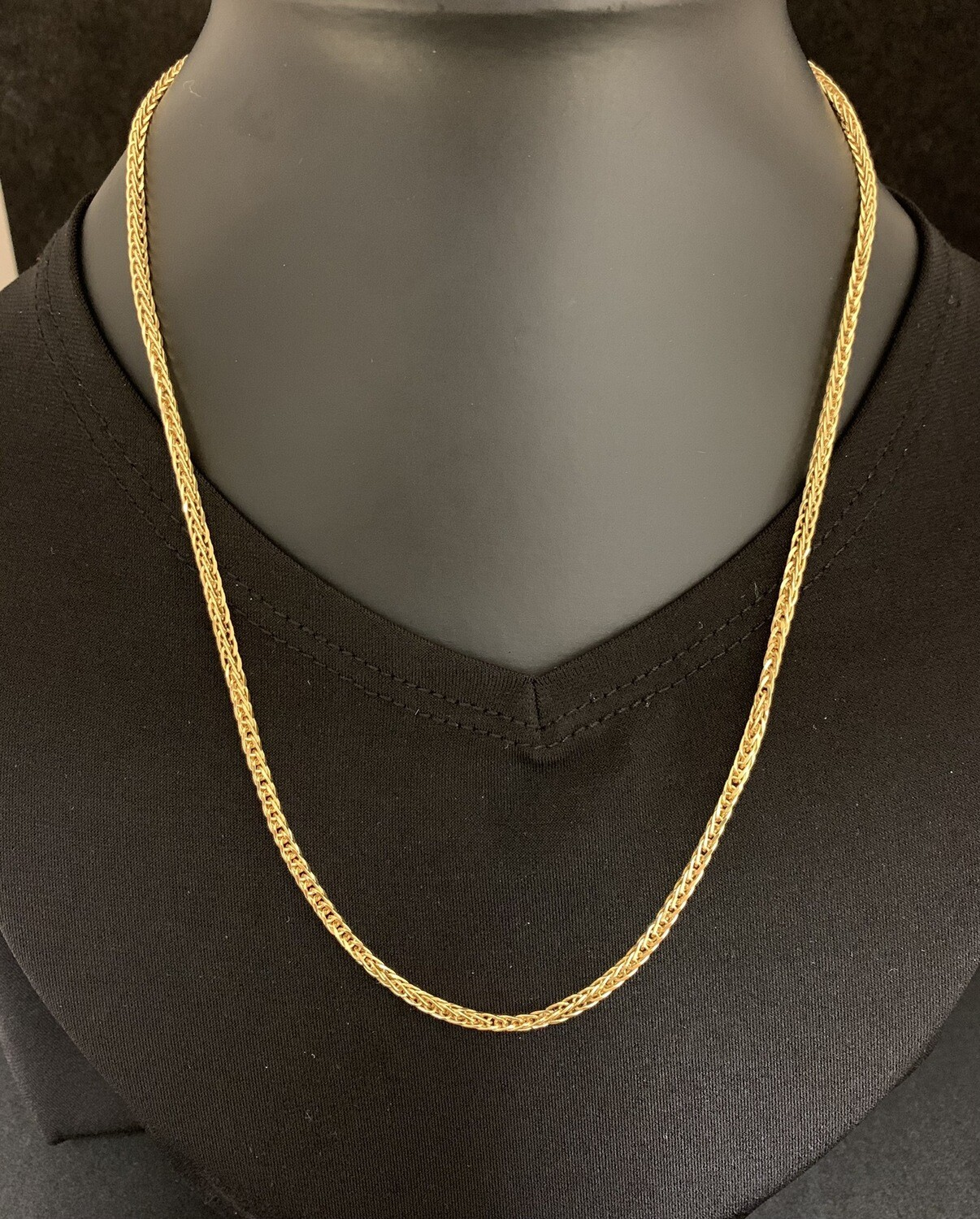 "18"" 14Kt Yellow Gold Wheat Chain"