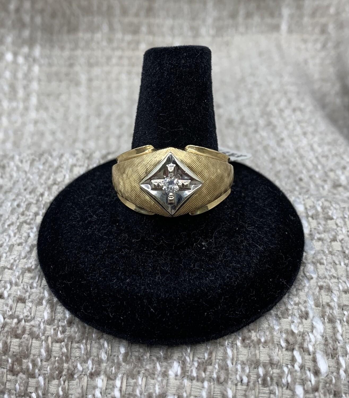 Men's 14kt Diamond Ring