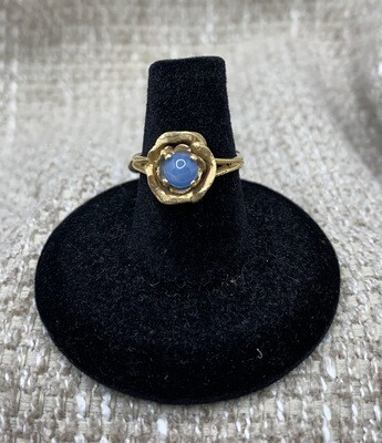 Moon Stone Pinkie Ring