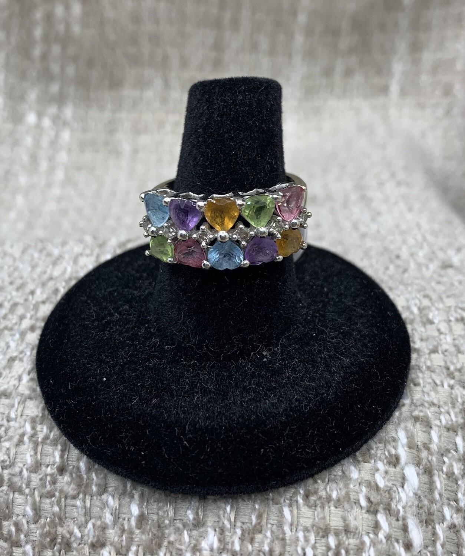Multi Color Gem 14kt Cocktail Ring