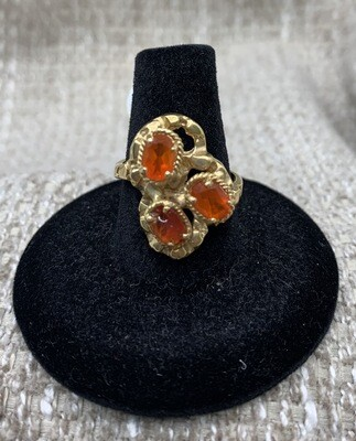 Mexican Fire Opal Cocktail Ring