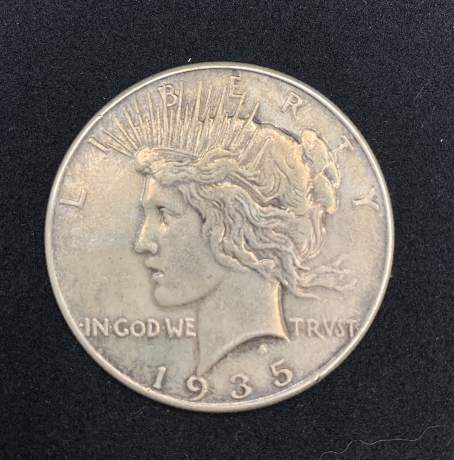 1935 Peace Silver Dollar Coin - Philadelphia Mint