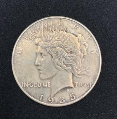 1935 Peace Silver Dollar Coin - Philadelphia Mint