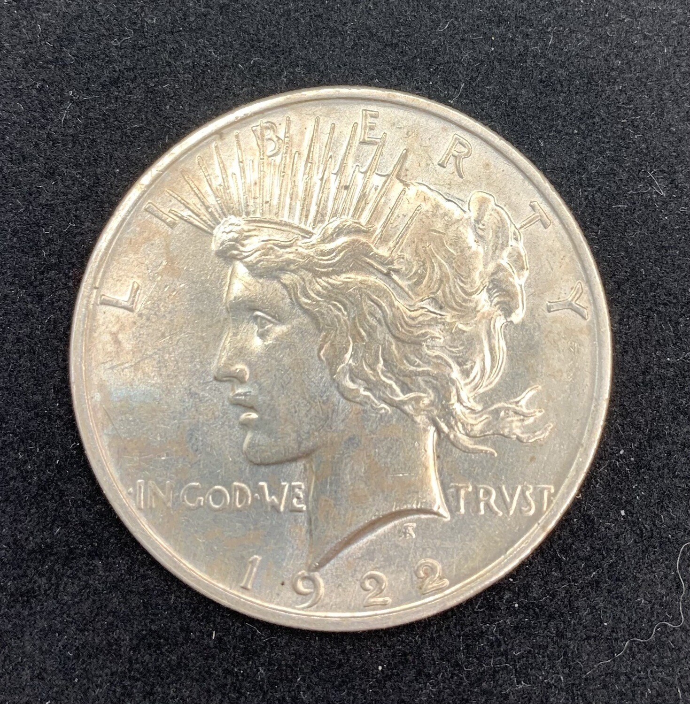 1922 Silver Peace Dollar - Denver Mint