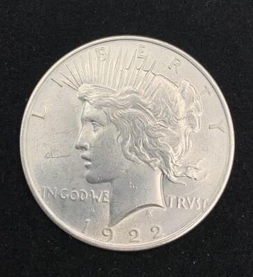 1922 Silver Peace Dollar - Philadelphia Mint