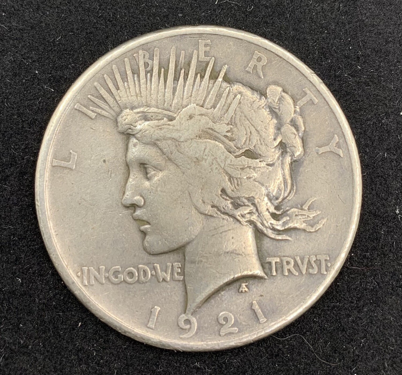 1921 Silver Peace Dollar - Philadelphia Mint