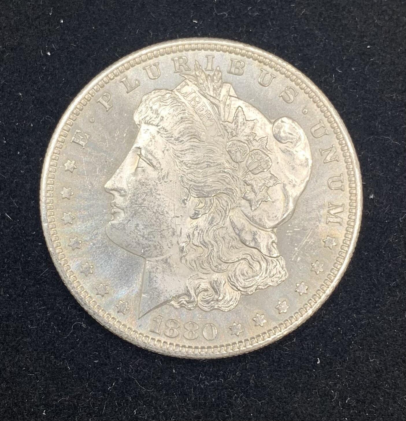 1880 S Morgan Silver Dollar - San Francisco Mint