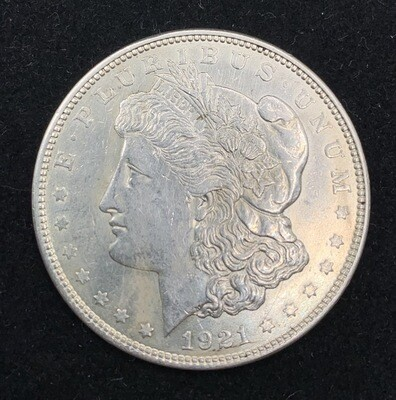 1921 Morgan Silver Dollar - Micro D Denver Mint