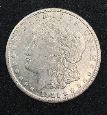 1921 Morgan Silver Dollar - Micro S San Francisco Mint