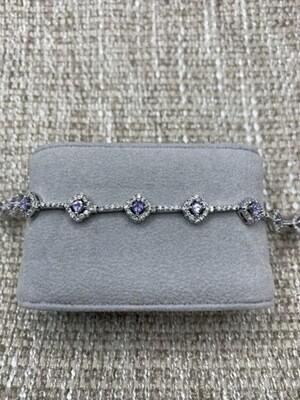 Sterling Silver Lilac CZ Bracelet