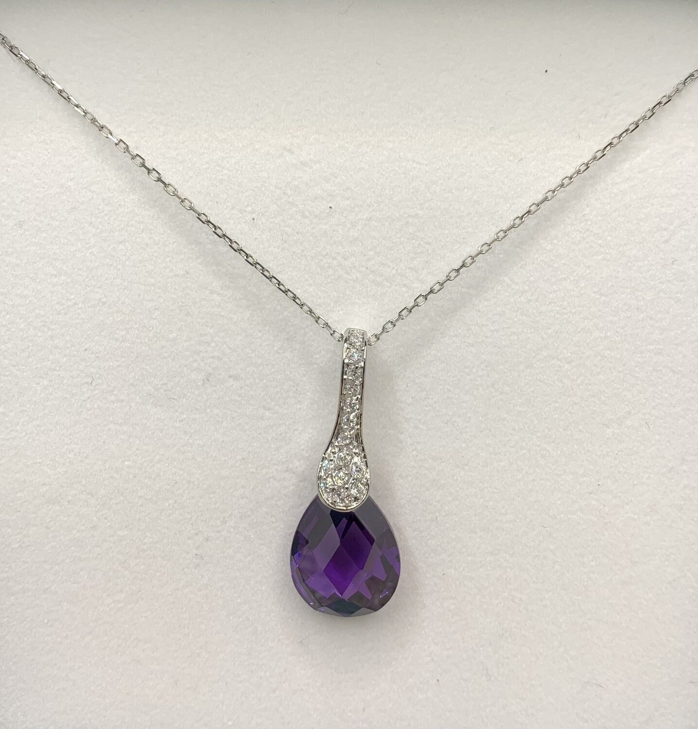 Sterling Silver Synthetic Amethyst Pendant