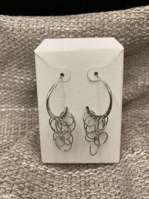 Dangling Circles Sterling Silver Earrings