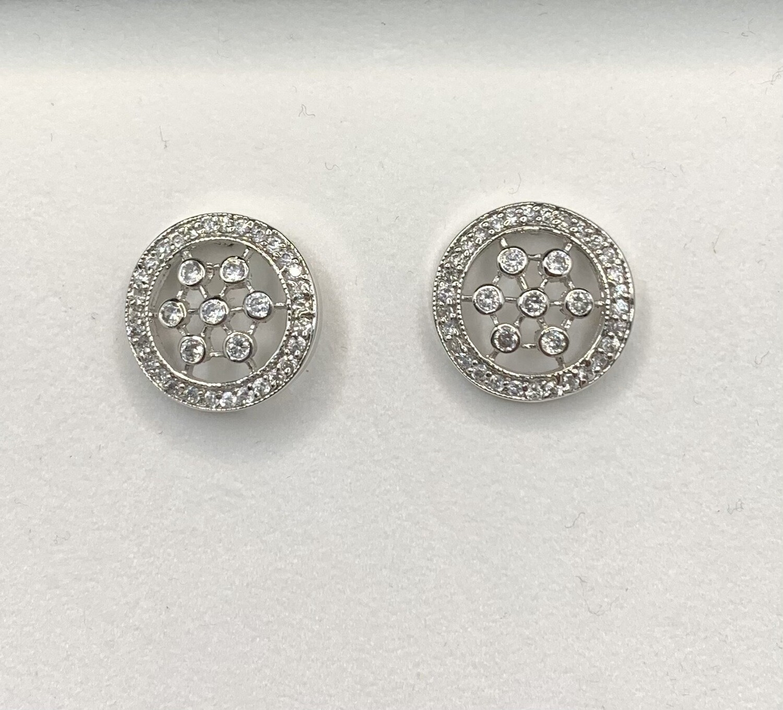 CZ Sterling Silver Post Earrings