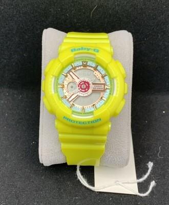 Ladies Casio Bright Yellow Baby-G BA110CA-9A
