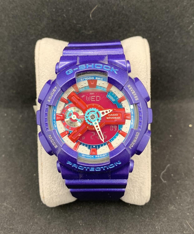 Women's Casio Purple G-Shock GMAS110HC-2A