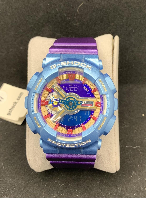 Casio G-Shock Purple & Blue GMAS110HC-6A