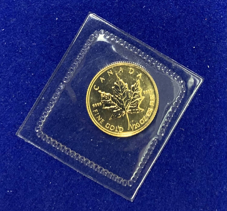1996 Canada Gold Maple Leaf 1/20 Oz Coin
