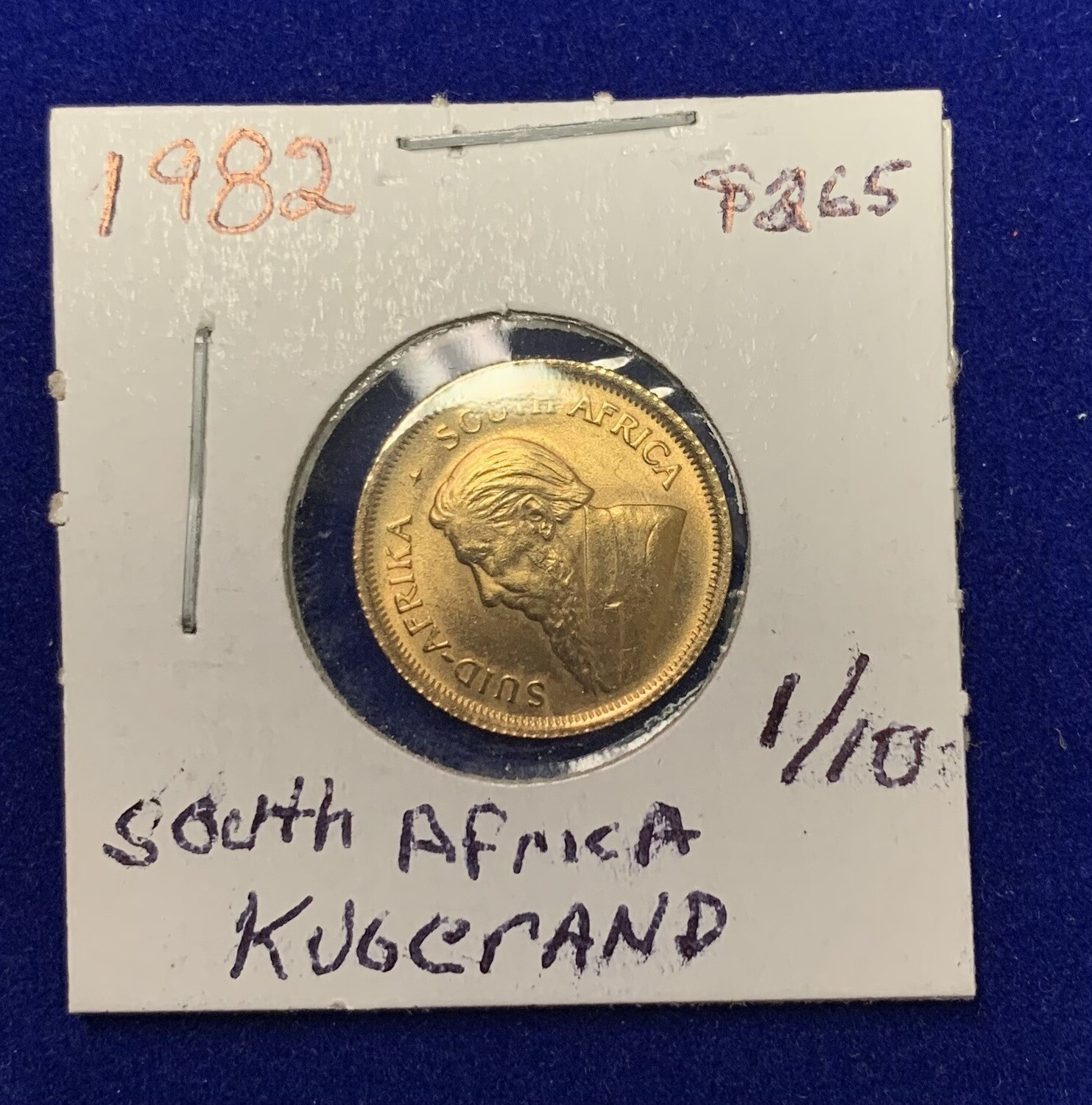 1982 1/10 Oz Gold South African Krugerrand