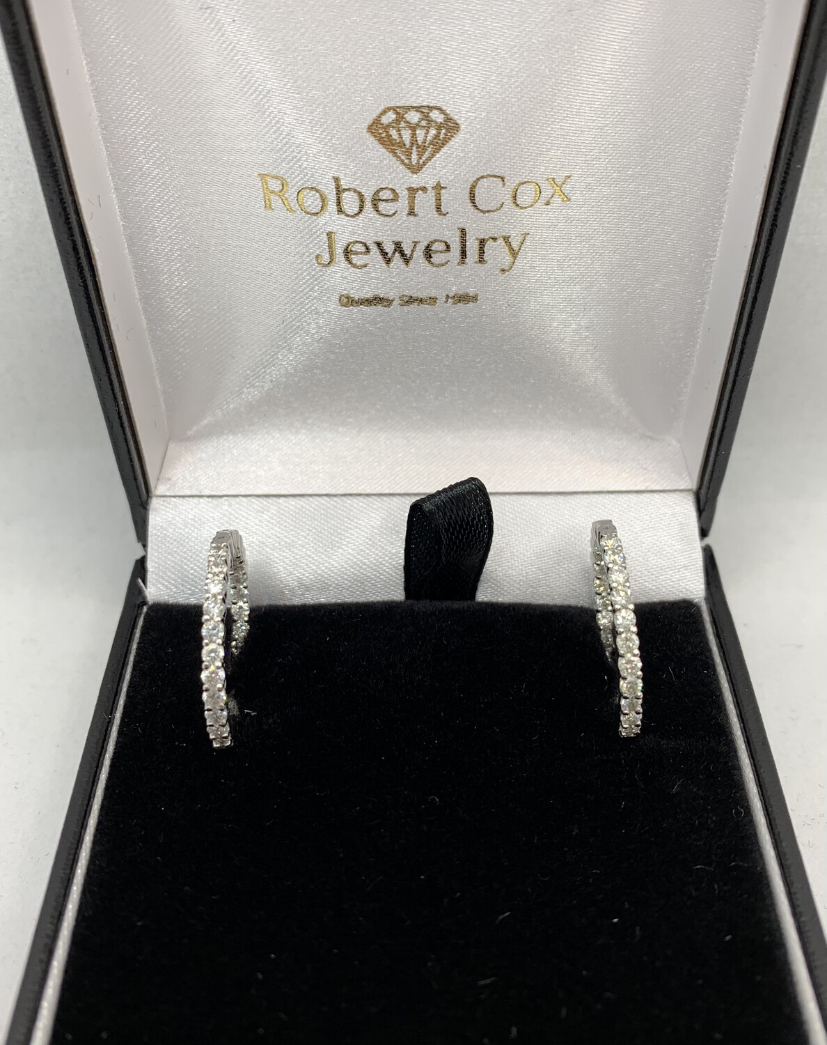 Inside Out 1 1/2 Ct Diamond Hoops