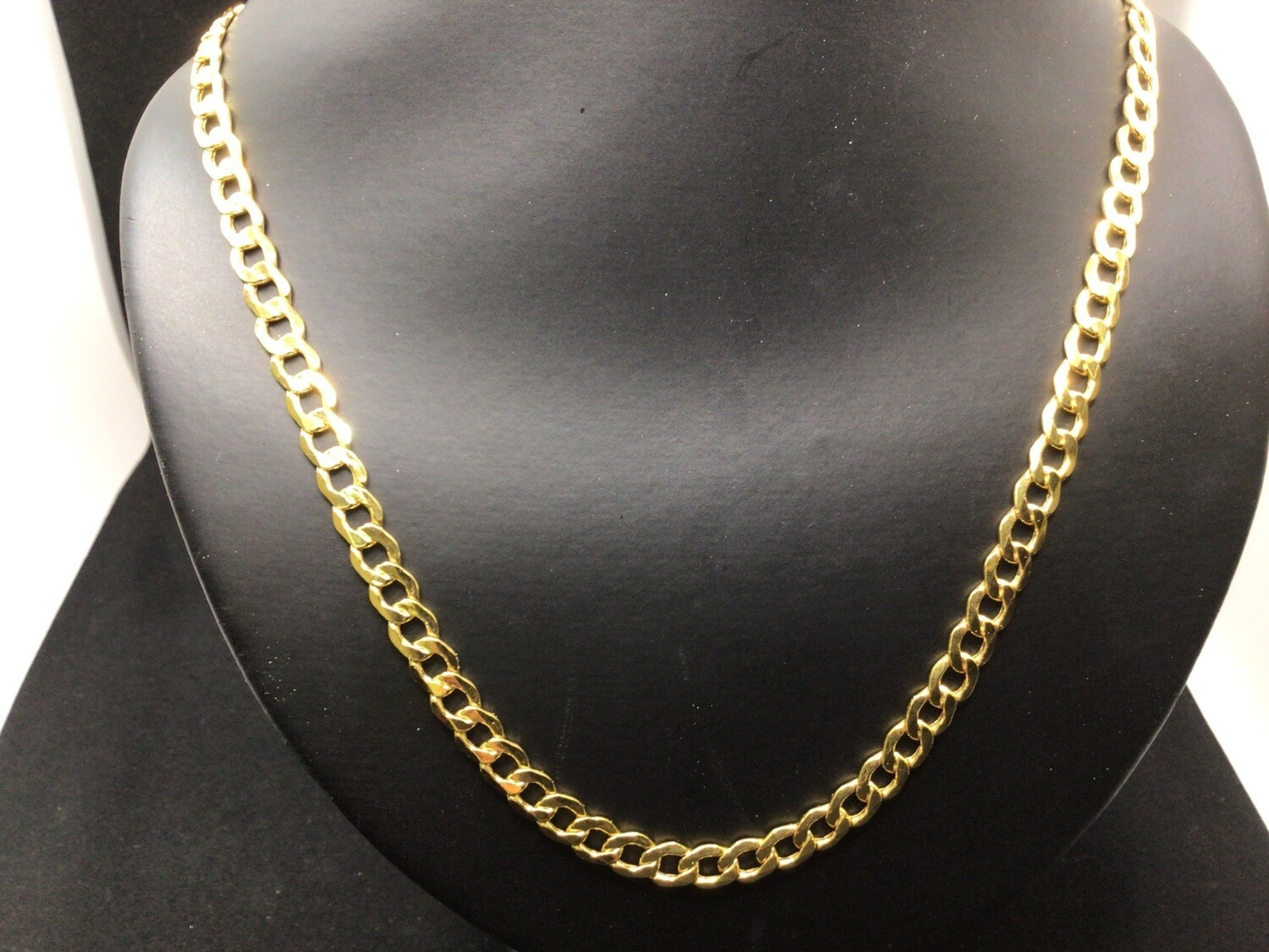 """22 """" 14 KT. SOLID LITE CURB LINK CHAIN. 7 MM WIDE .THERE'S NOTHING LIKE THE RICH LOOK OF REAL GOLD ❗️"""