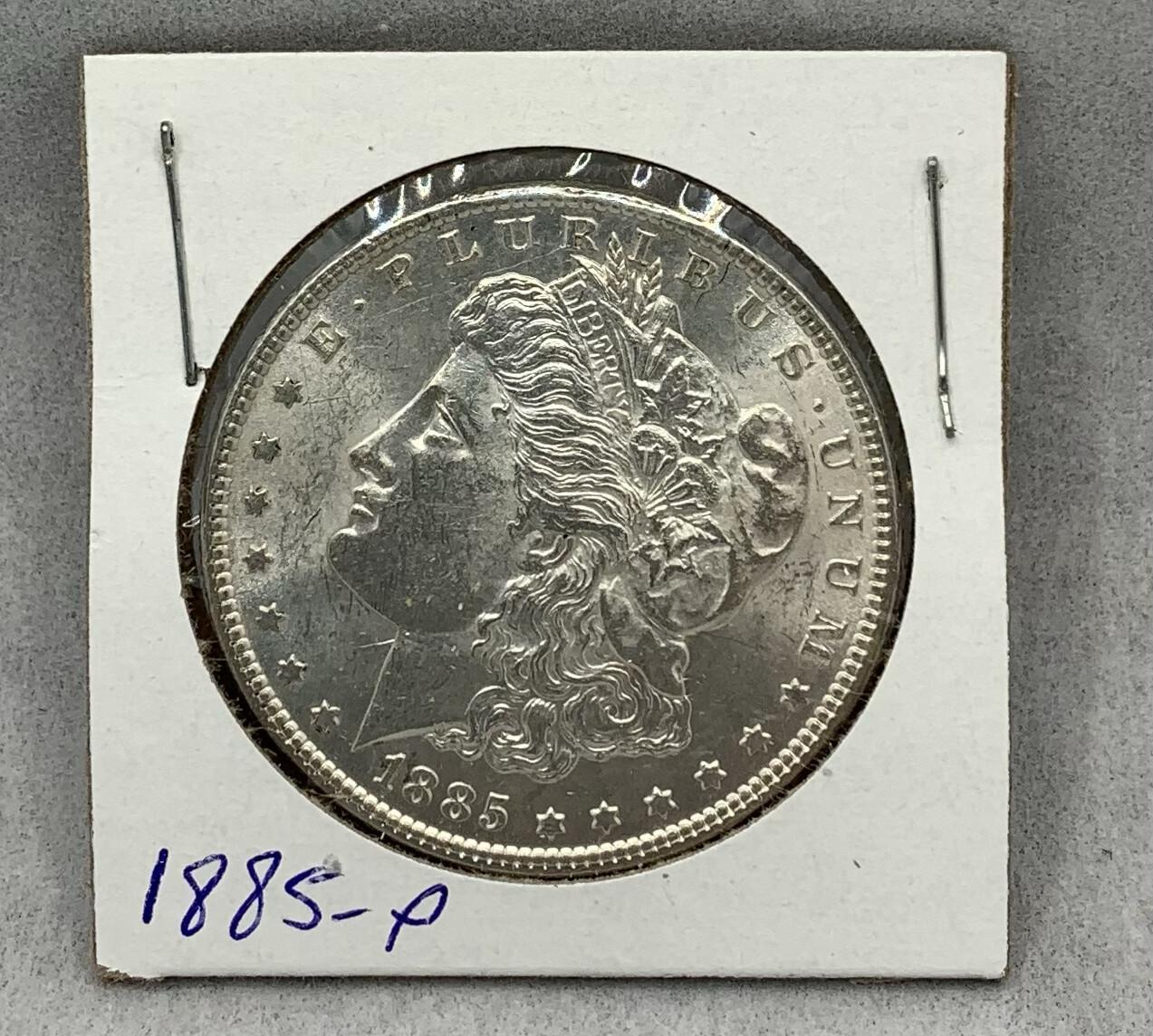 1885 Morgan Silver Dollar Mint Luster - Philadelphia Mint