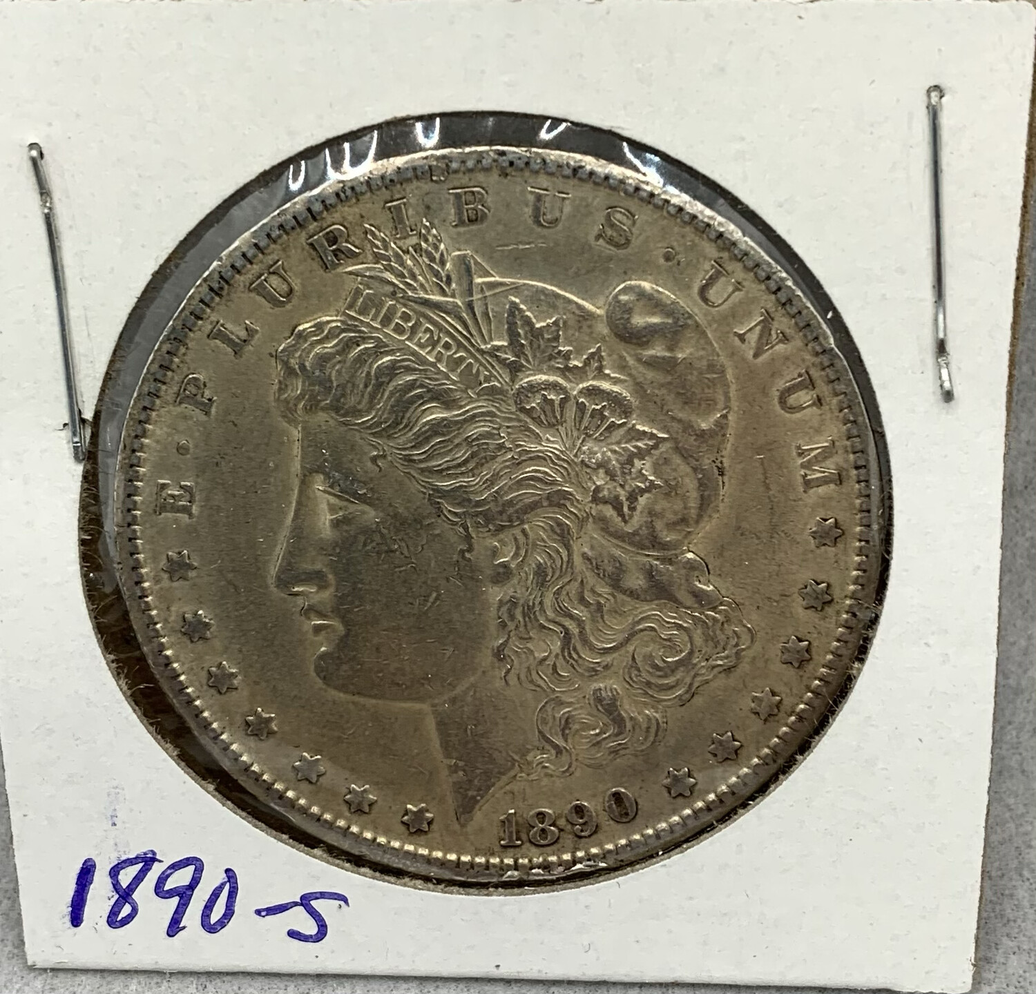 1890 Morgan Silver Dollar - San Francisco Mint - Some Toning