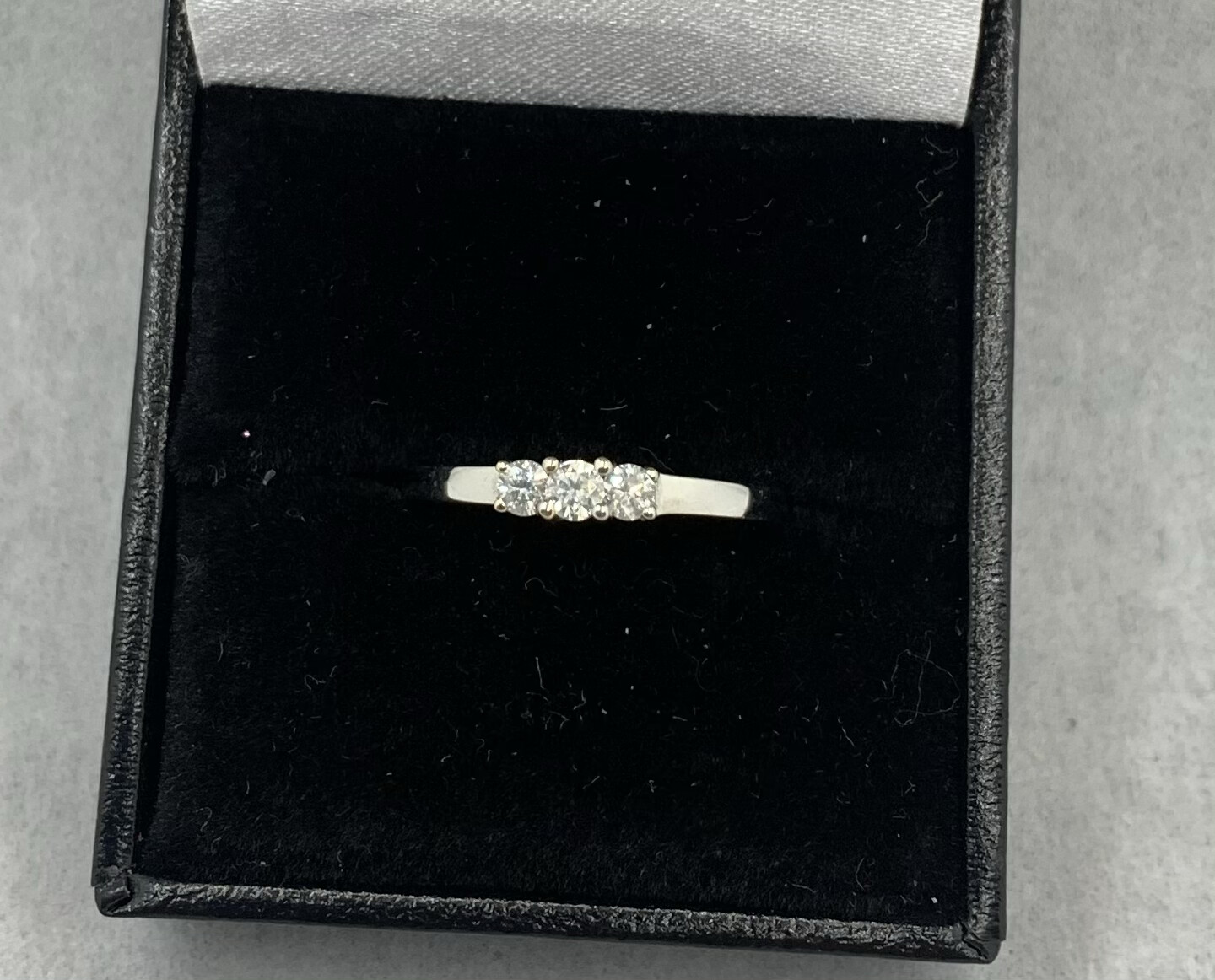 Past Present Future 25 Pt Total Weight Diamond Band set in White Gold