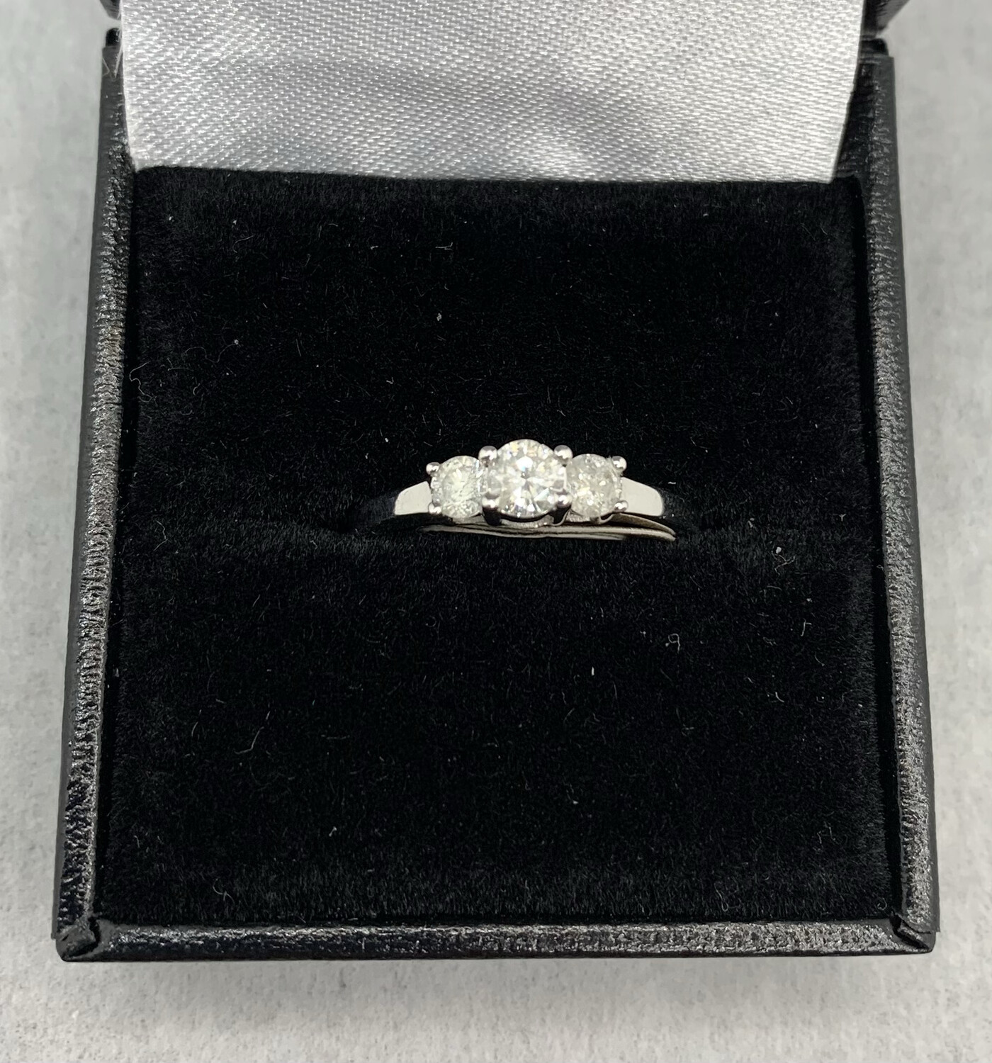 3 Diamond 50 Pt Total Weight 14 White Gold Engagement Or Anniversary Band
