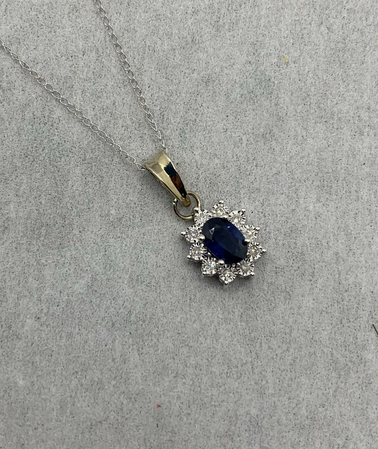 Oval Sapphire With Diamond Accents