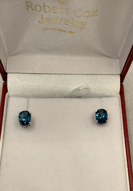 London Blue Topaz Post Earrings