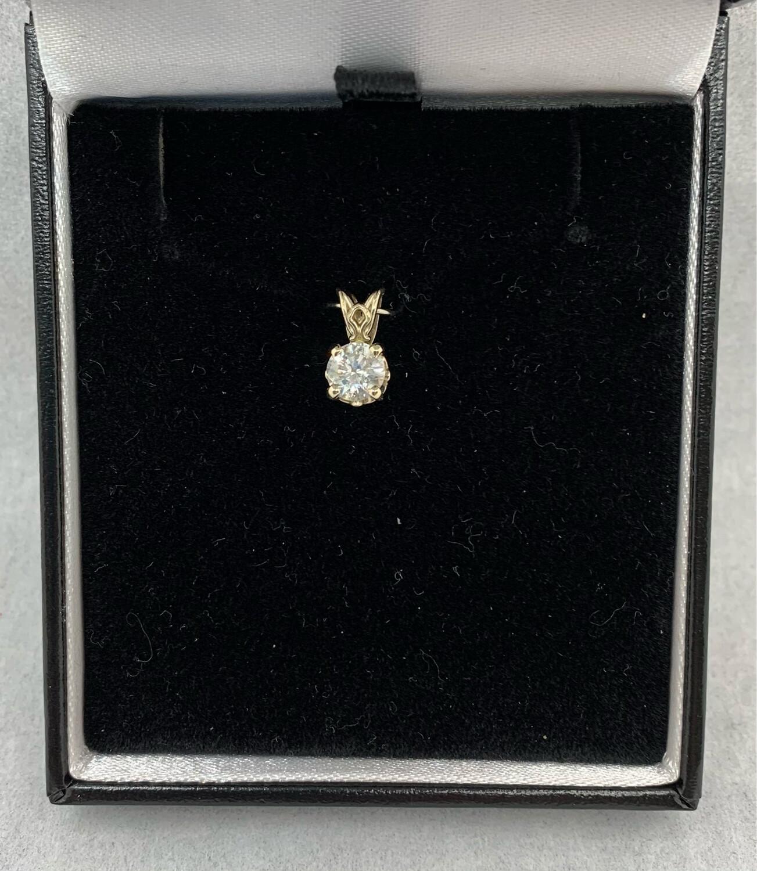 1 Ct Brilliant Diamond Solitaire Pendant