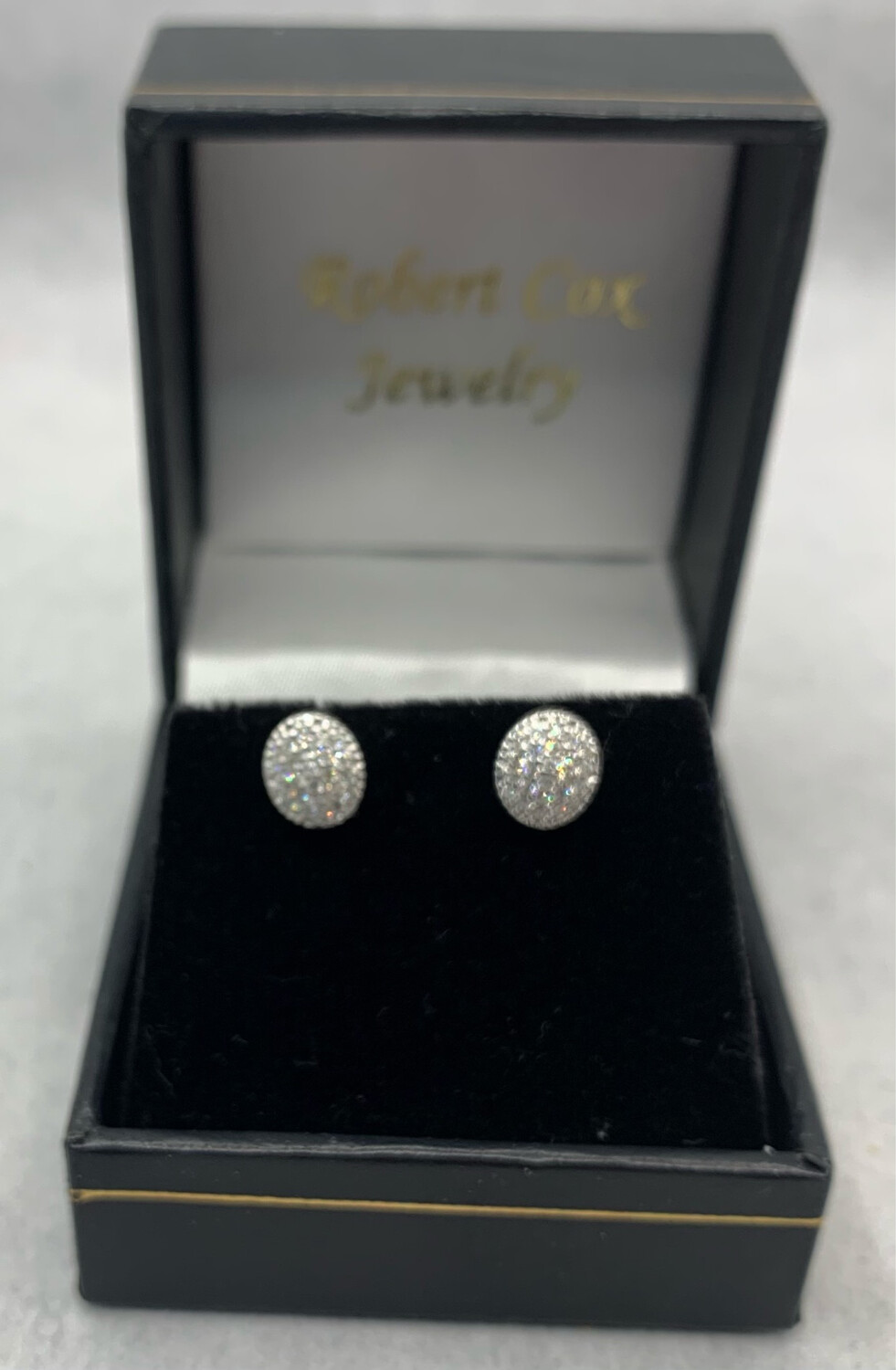 Oval Shaped 20 Pt Total Weight Glimmer Diamond Screw Back Post Earrings