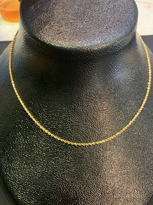 14 Kt 16 Inch DC Rope Chain