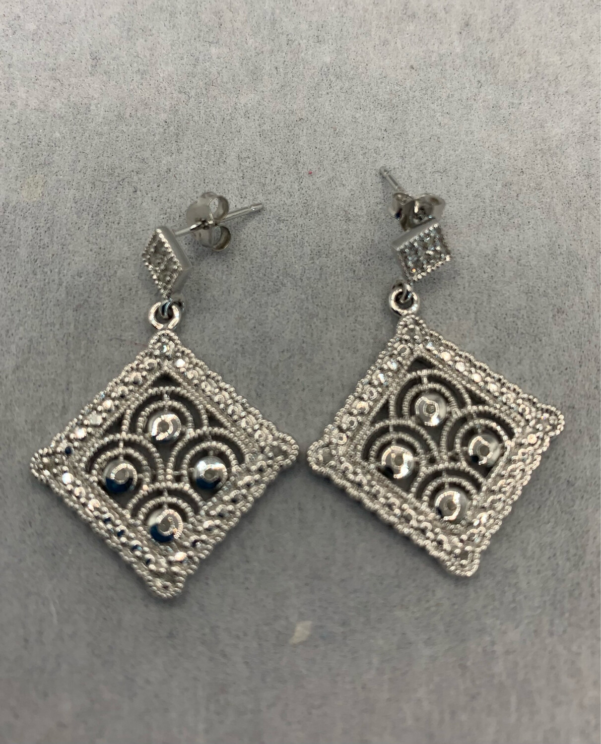 Sterling Silver Diamond Accent Post Earrings