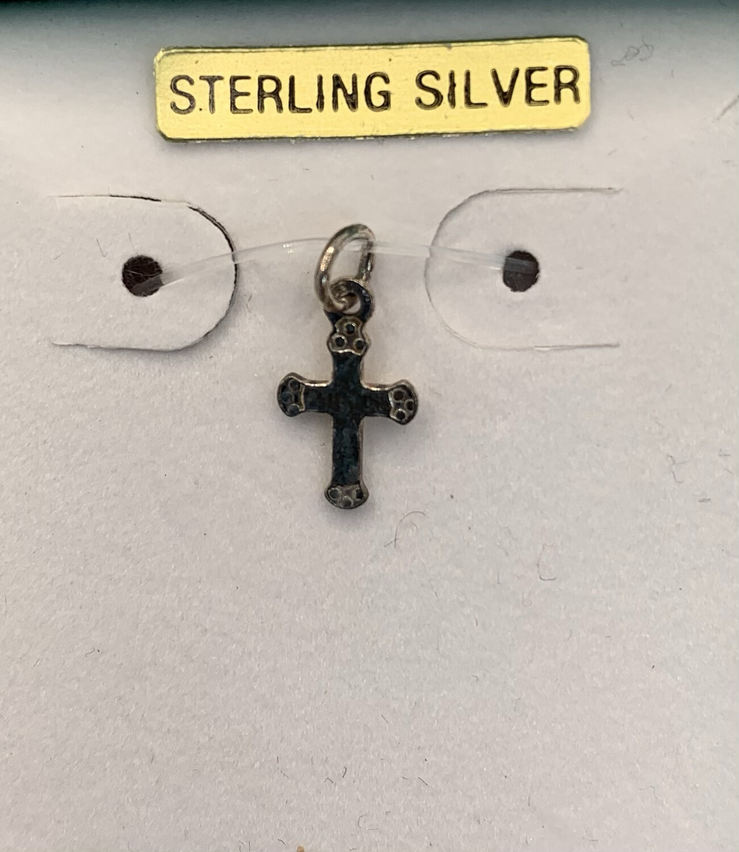 Petite Sterling Silver Cross Charm