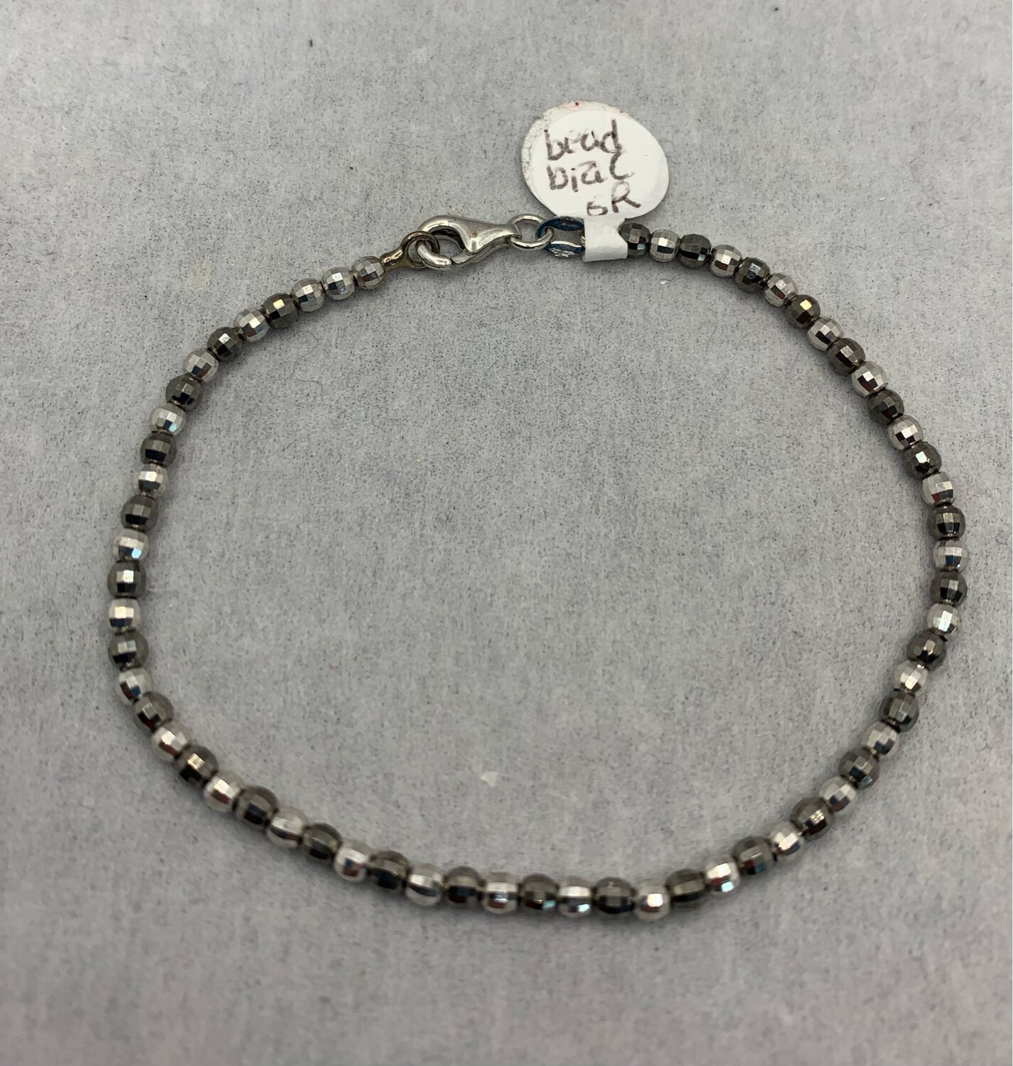 Sterling Beaded Bracelet With Lobster Claw Closure