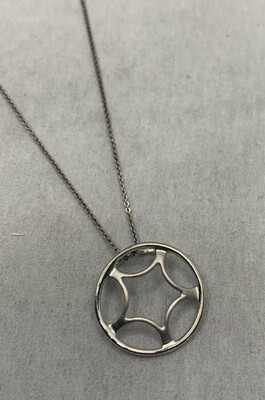 Sterling Silver Pedant With Whisper Chain And Lobster Clasp