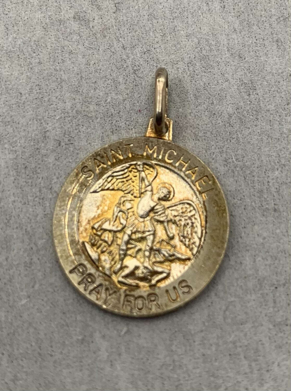 Sterling Silver Saint Michael Charm Pendant
