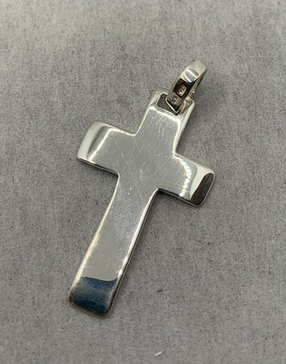 Sterling Silver Thick Cross Pendant
