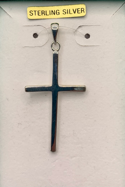 Sterling Silver Thin Cross Pendant