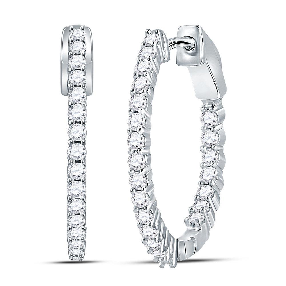 Diamond Hoop Earring 1/2 ctw. 10kt 113133