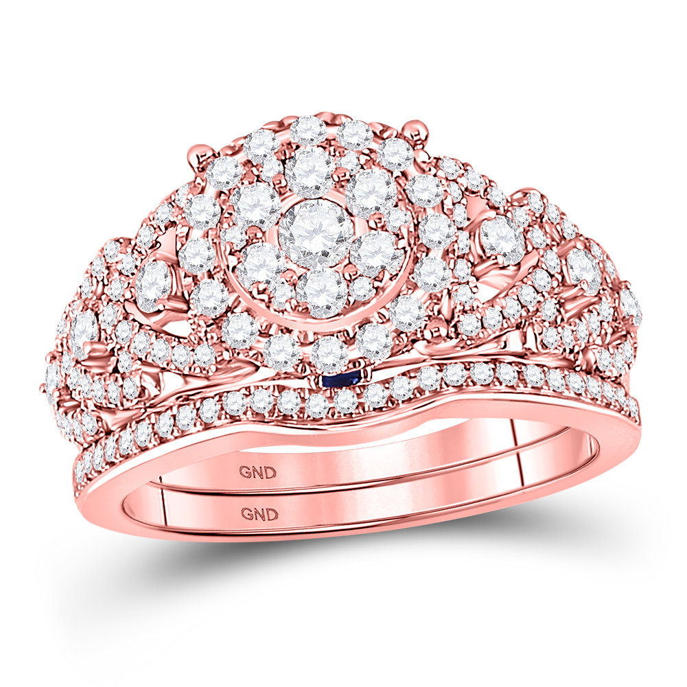 Cherie Collection rose gold diamond ring 7/8 ctw. 14kt 127678