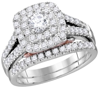 Bellissimo Bridal Collection diamond ring 1 1/4 ctw. 14kt - 1/3 ct. center stone 114797